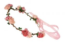 Little flowers garland with ribbon