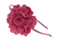 Saten tiara with felt  flower