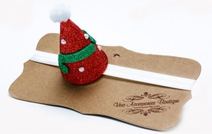 Christmas hat elastic headband