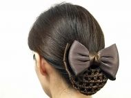Classic Hair Barrette -Dark Brown