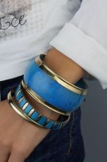 Etno metal  bracelets  with ornaments