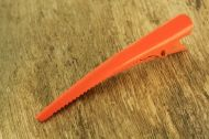 Orange Metal Crocodile Hair Clip