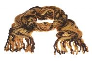 Knitted scarf -Brown