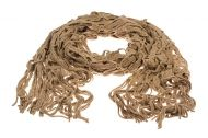 Knitted scarf -Light Brown