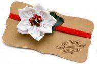 Лента за коса с цвете от тюл