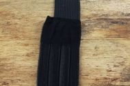 Black elastic headband 3  rows