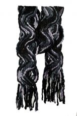 Knitted scarf -Black