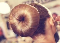 For a perfect bun -For Brown Hair