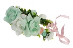 Flower garland with ribbon