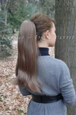 Clip Claw Synthetic Hair Ponytail- Straight