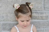 Saten tiara with felt and fabric flowers-Black and red